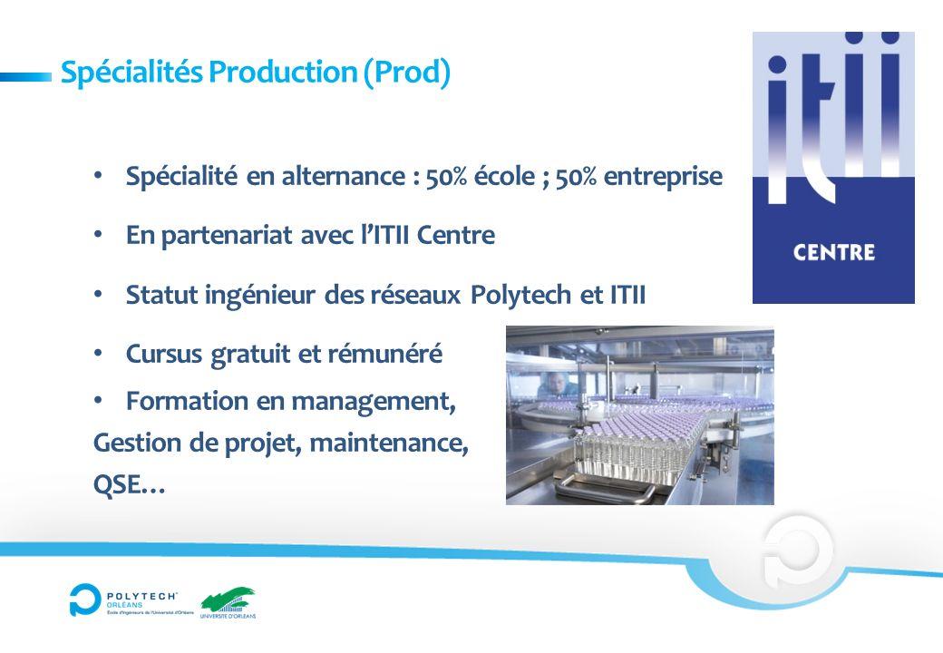 Spécialités Production (Prod)