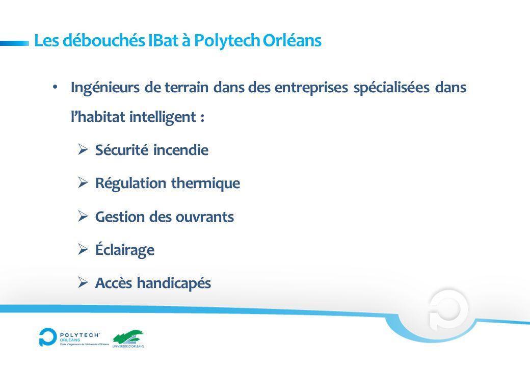Les débouchés IBat à Polytech Orléans