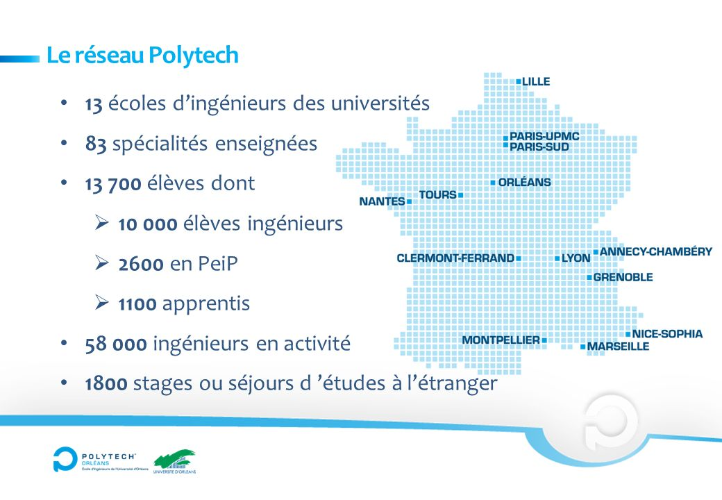 Le réseau Polytech 13 écoles d'ingénieurs des universités