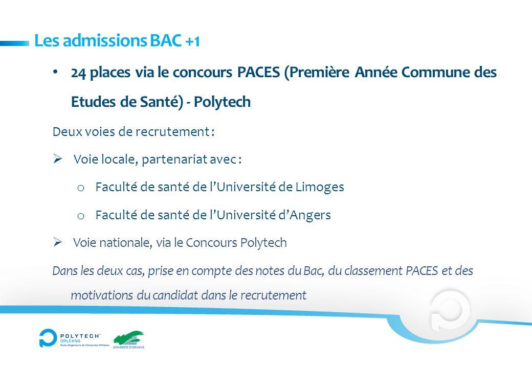 Les admissions BAC +1 24 places via le concours PACES (Première Année Commune des Etudes de Santé) - Polytech.