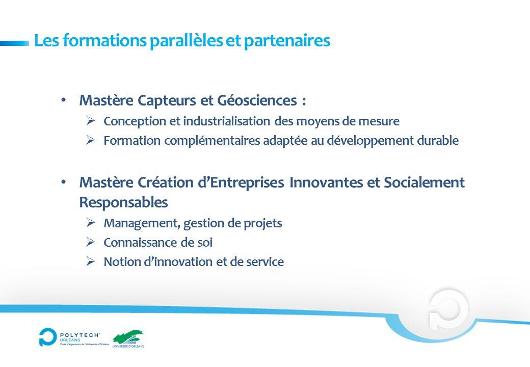 Les formations parallèles et partenaires