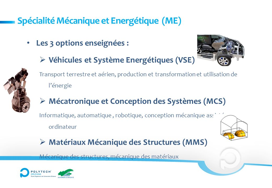 Spécialité Mécanique et Energétique (ME)