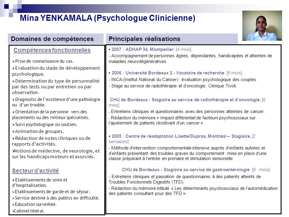 mina yenkamala  psychologue clinicienne