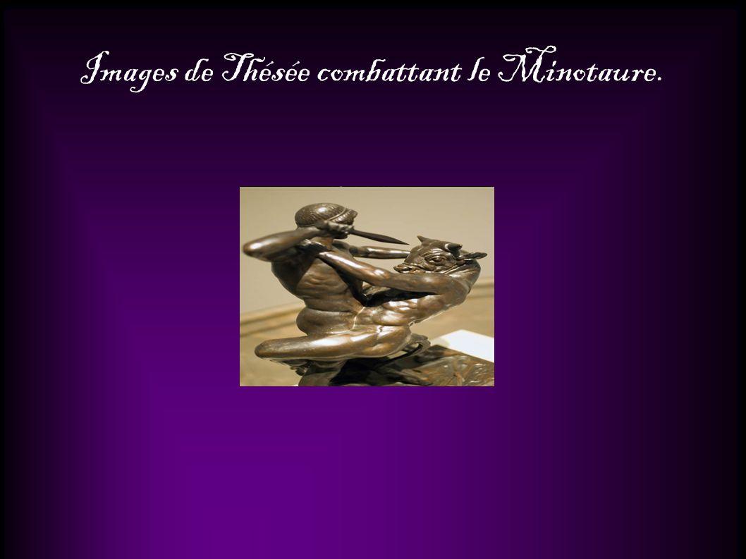 Images de Thésée combattant le Minotaure.