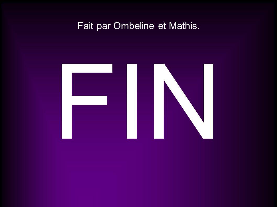 Fait par Ombeline et Mathis.