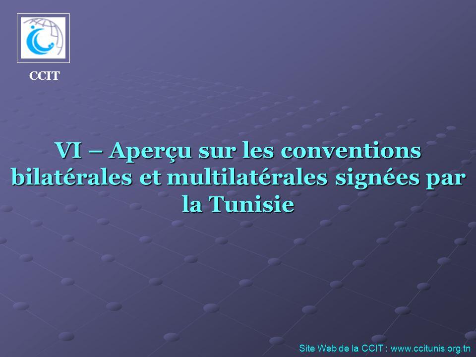 CCIT VI – Aperçu sur les conventions bilatérales et multilatérales signées par la Tunisie.