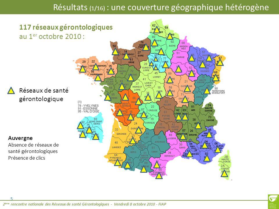 Résultats (1/16) : une couverture géographique hétérogène
