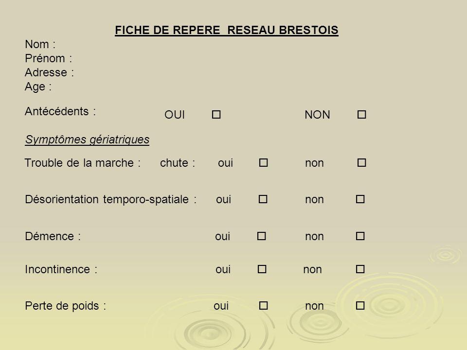 FICHE DE REPERE RESEAU BRESTOIS
