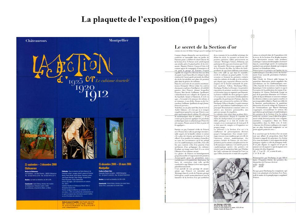 La plaquette de l'exposition (10 pages)