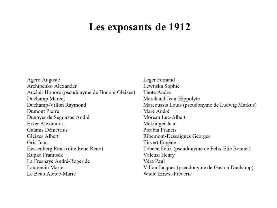 Les exposants de 1912