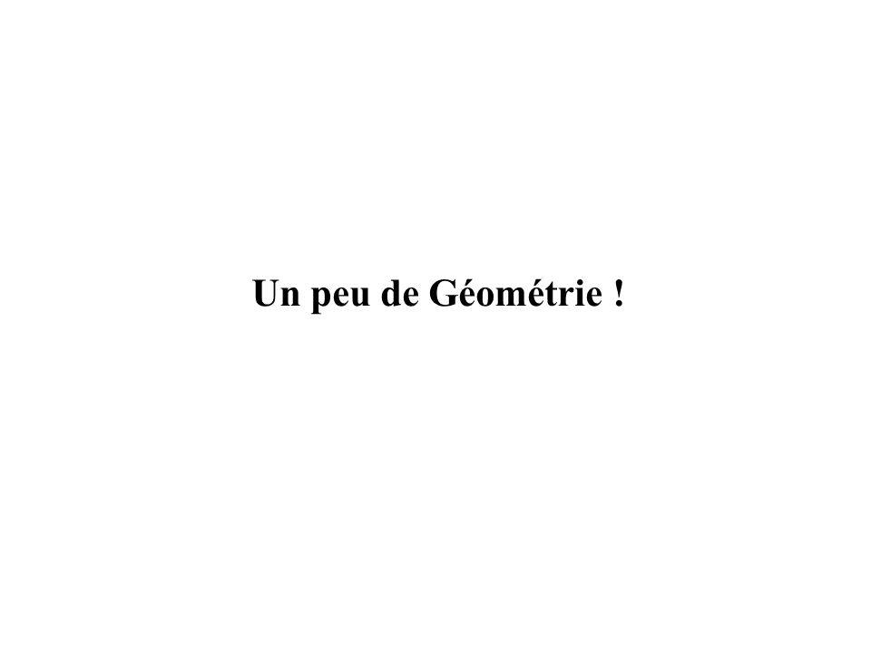 Un peu de Géométrie !