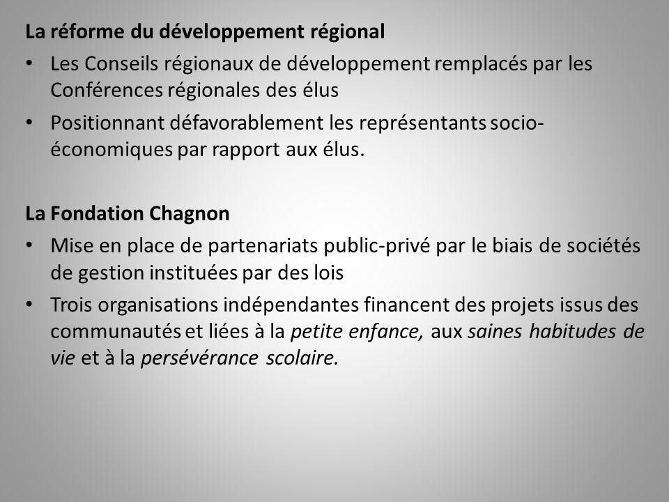 La réforme du développement régional