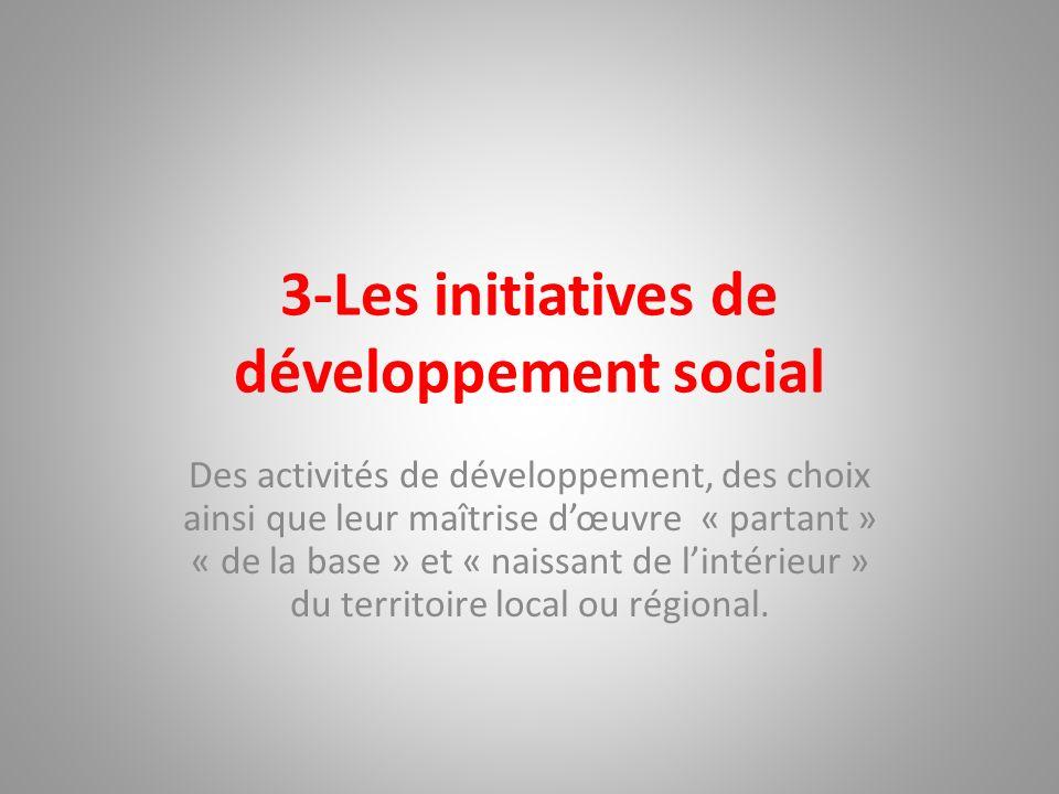 3-Les initiatives de développement social