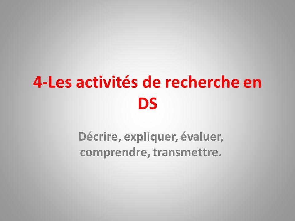 4-Les activités de recherche en DS