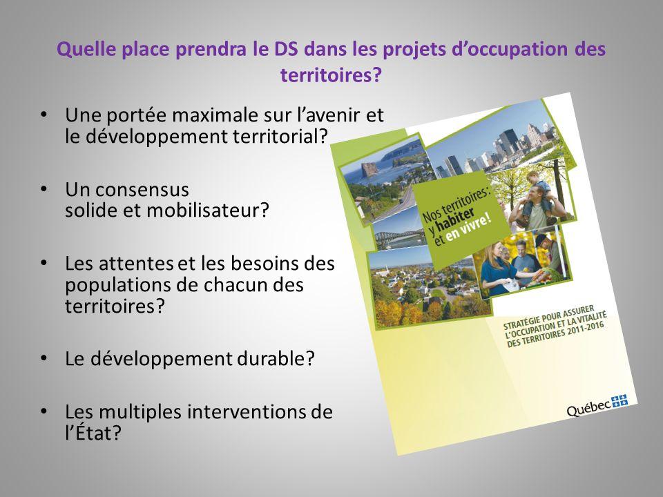 Une portée maximale sur l'avenir et le développement territorial
