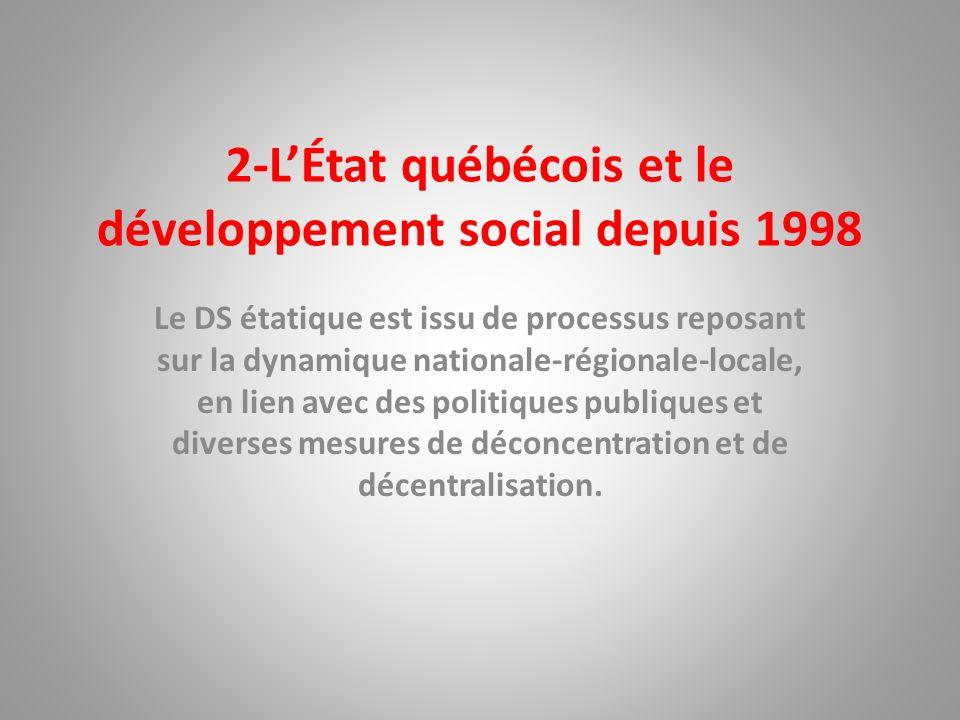 2-L'État québécois et le développement social depuis 1998