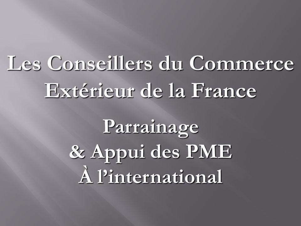 Les conseillers du commerce ext rieur de la france ppt for Conseiller commerce exterieur