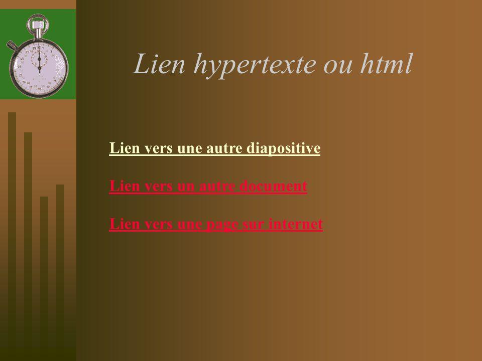Lien hypertexte ou html