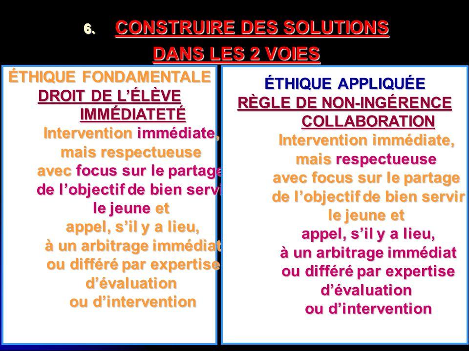 CONSTRUIRE DES SOLUTIONS DANS LES 2 VOIES