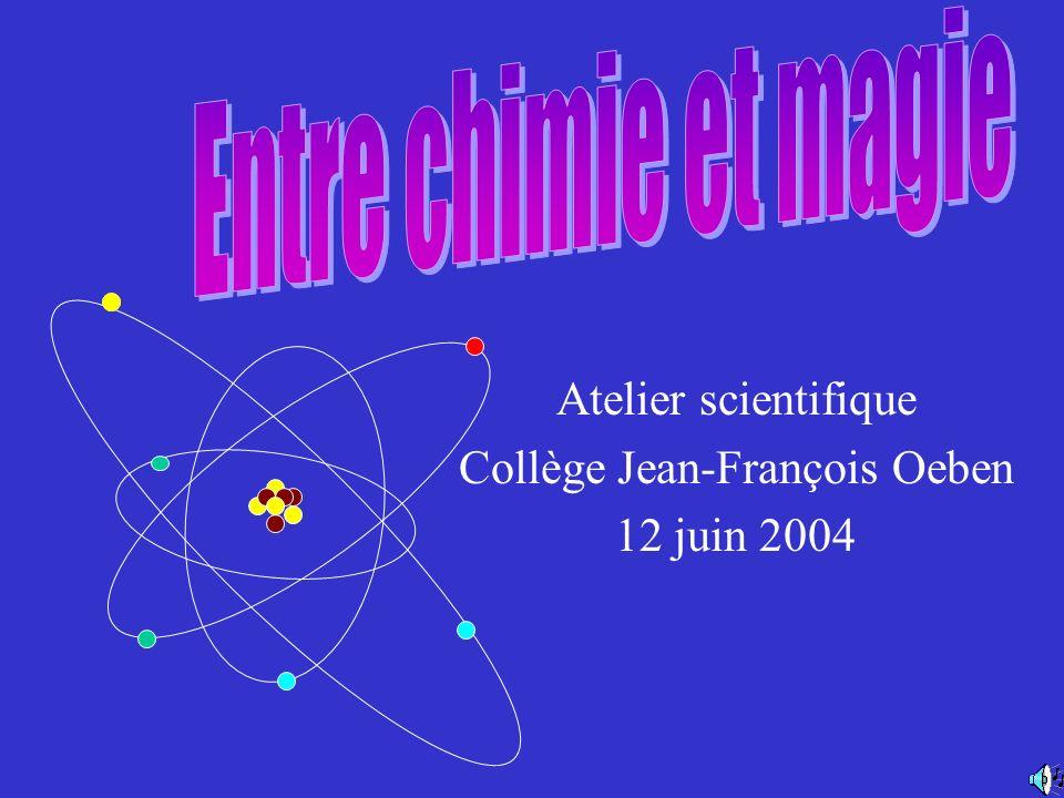 Atelier scientifique Collège Jean-François Oeben 12 juin 2004