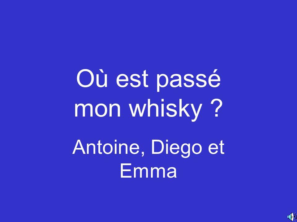 Où est passé mon whisky Antoine, Diego et Emma