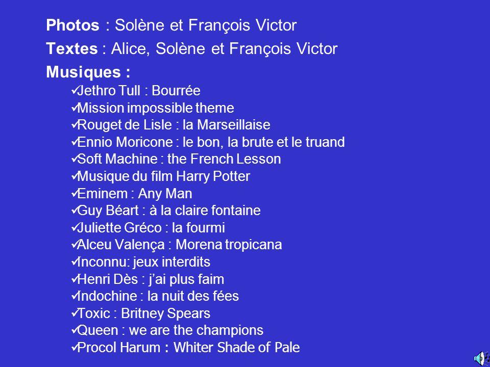 Photos : Solène et François Victor