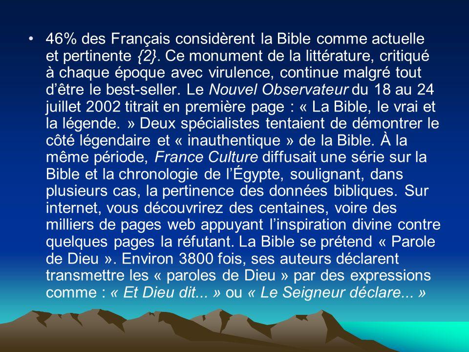 46% des Français considèrent la Bible comme actuelle et pertinente {2}