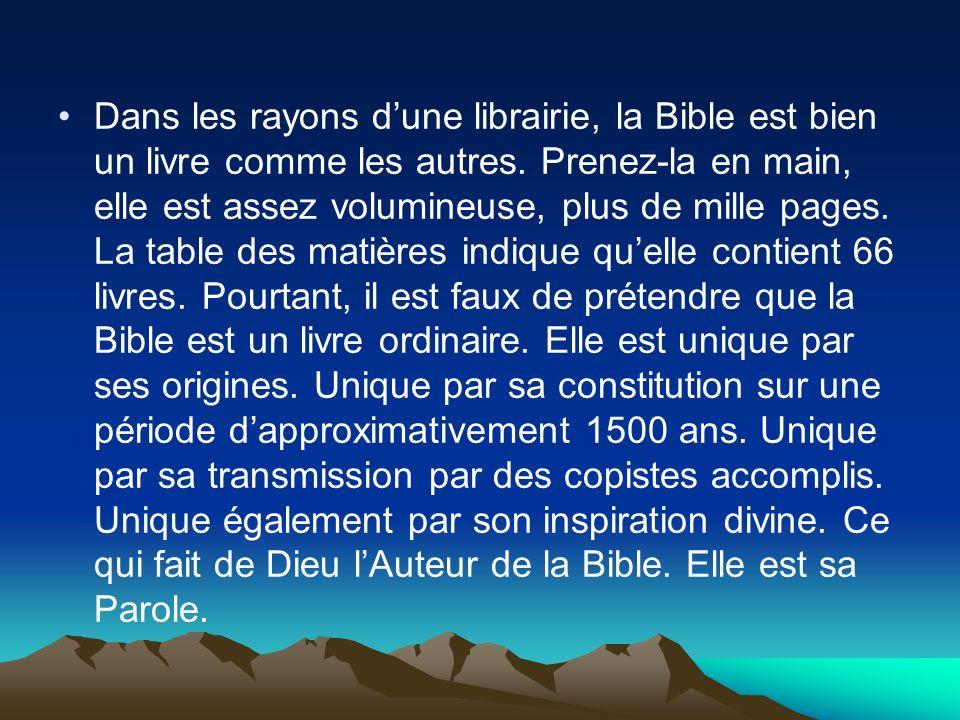 Dans les rayons d'une librairie, la Bible est bien un livre comme les autres.