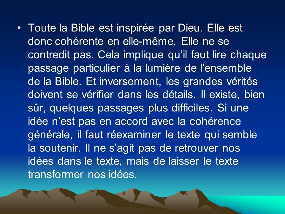 Toute la Bible est inspirée par Dieu
