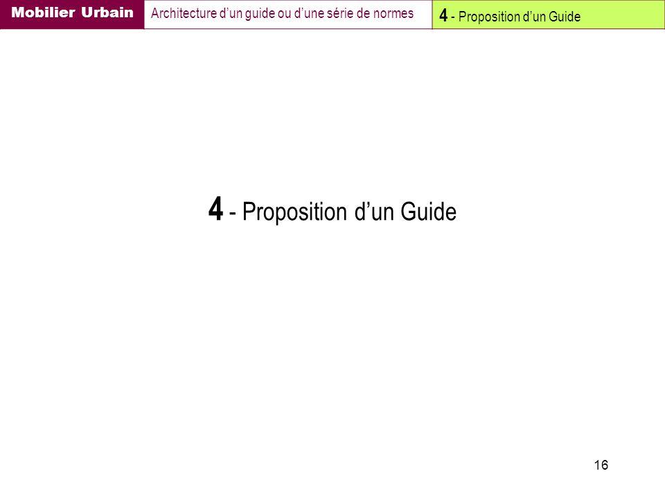 4 - Proposition d'un Guide