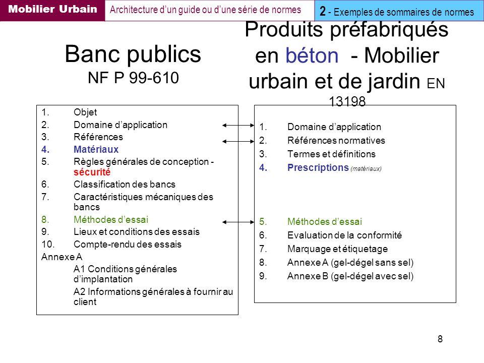 Produits préfabriqués en béton - Mobilier urbain et de jardin EN 13198
