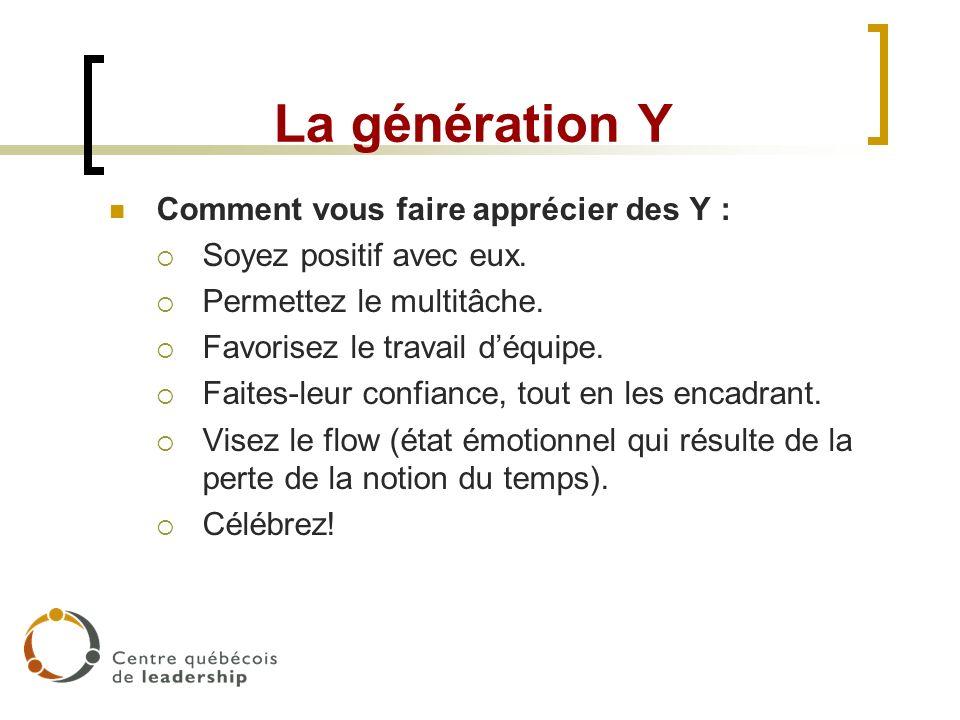 La génération Y Comment vous faire apprécier des Y :