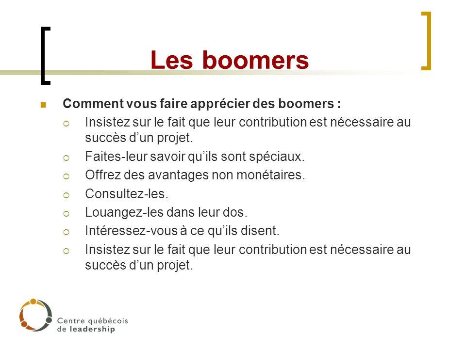 Les boomers Comment vous faire apprécier des boomers :