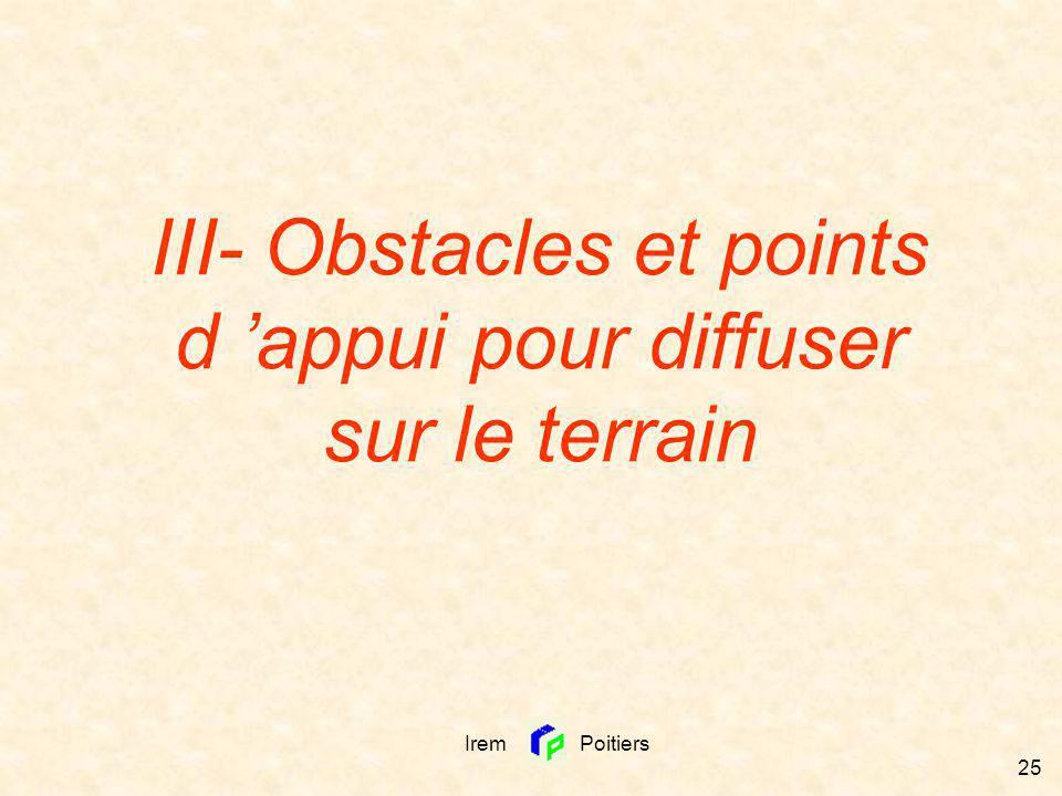III- Obstacles et points d 'appui pour diffuser sur le terrain