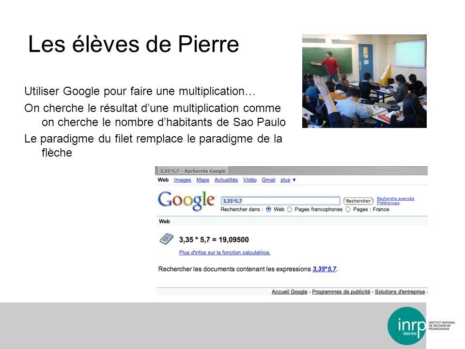 Les élèves de Pierre Utiliser Google pour faire une multiplication…