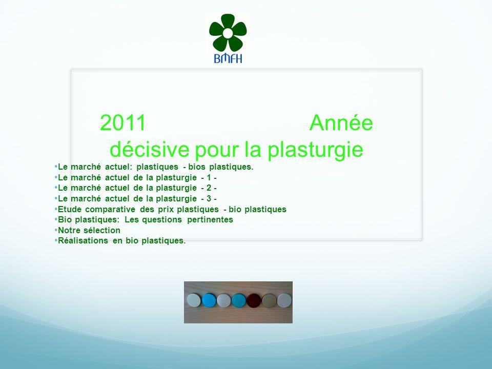 2011 Année décisive pour la plasturgie