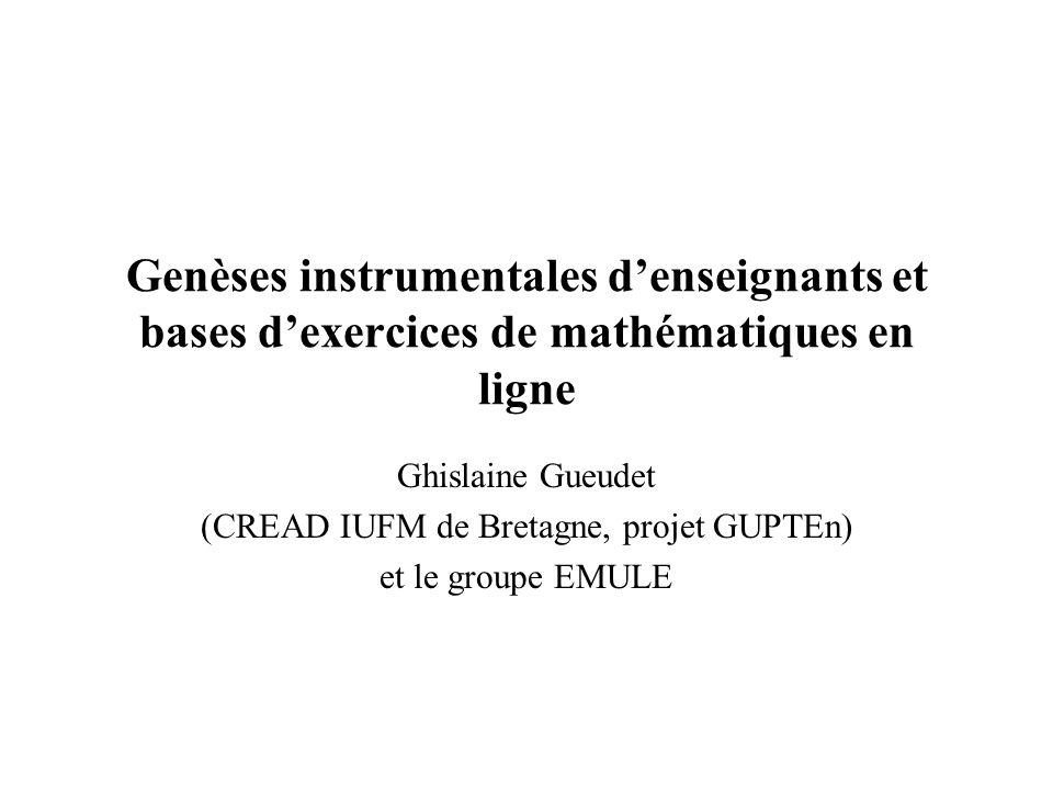 (CREAD IUFM de Bretagne, projet GUPTEn)