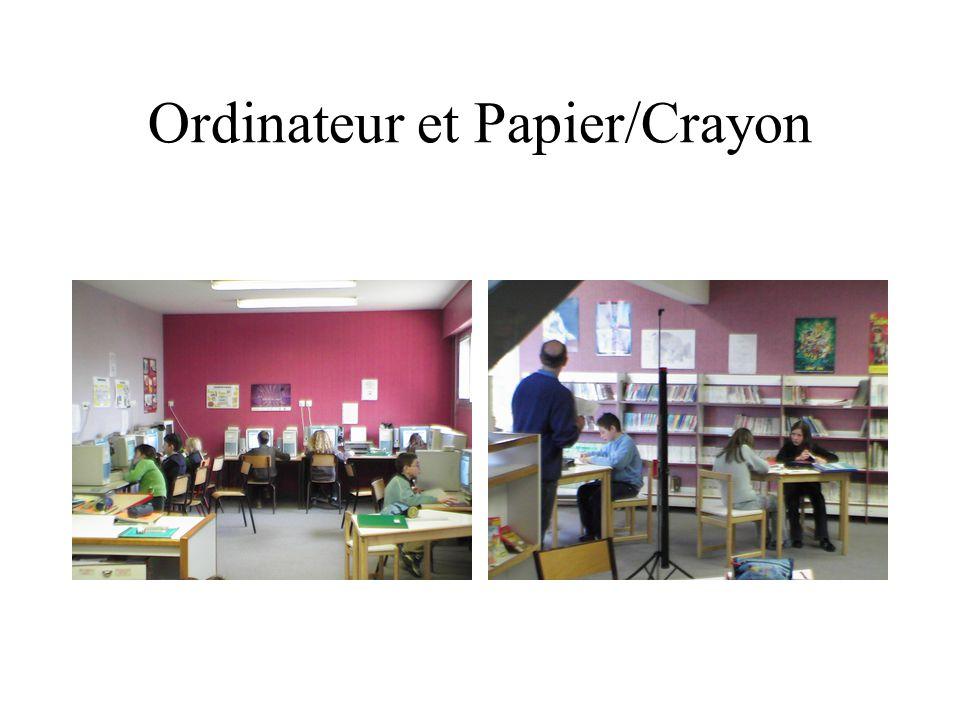 Ordinateur et Papier/Crayon