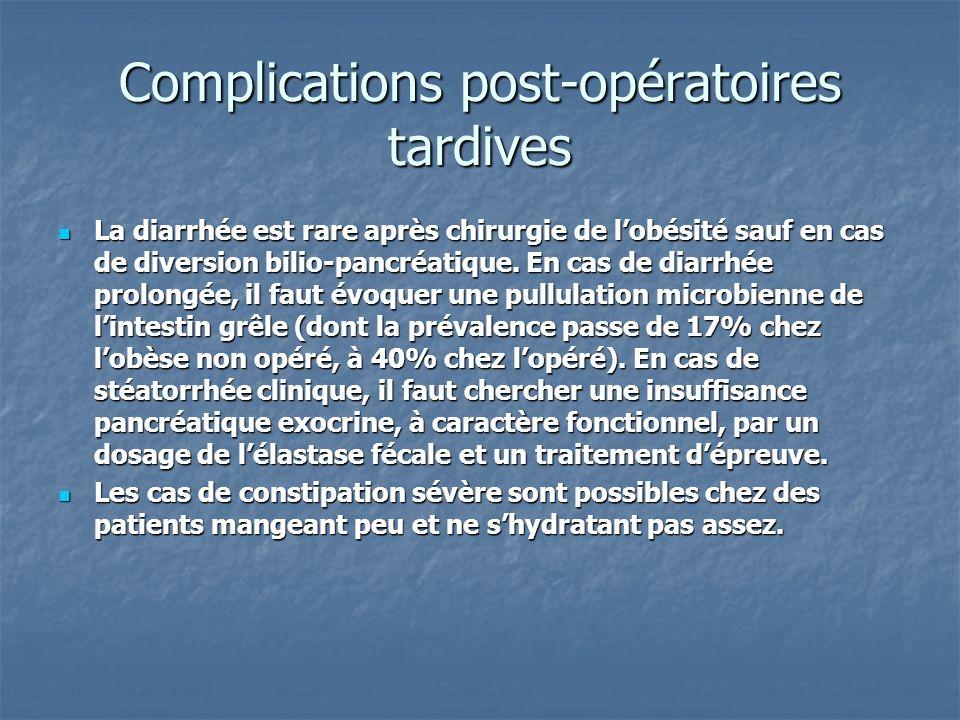 Complications post-opératoires tardives