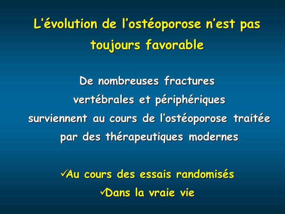 L'évolution de l'ostéoporose n'est pas toujours favorable