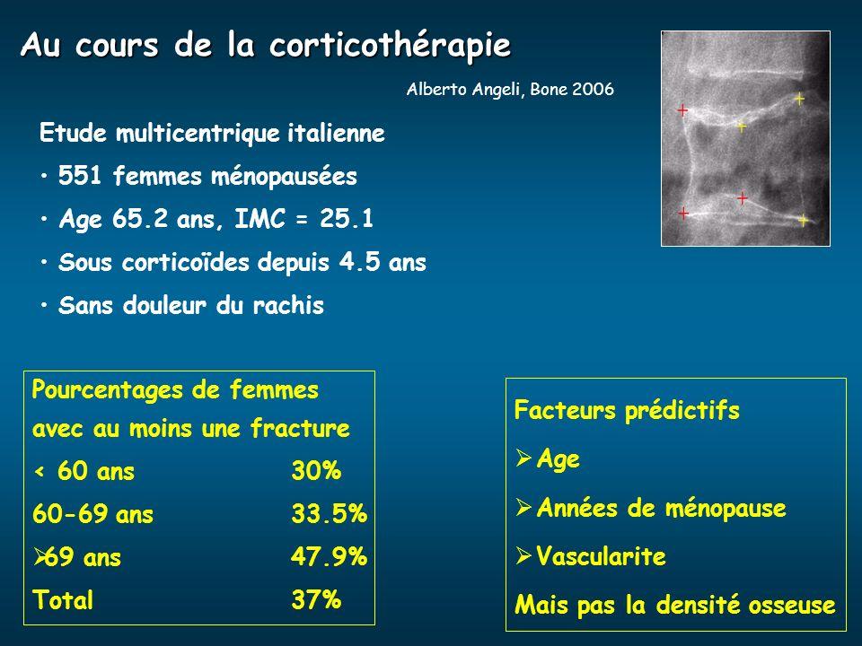 Au cours de la corticothérapie