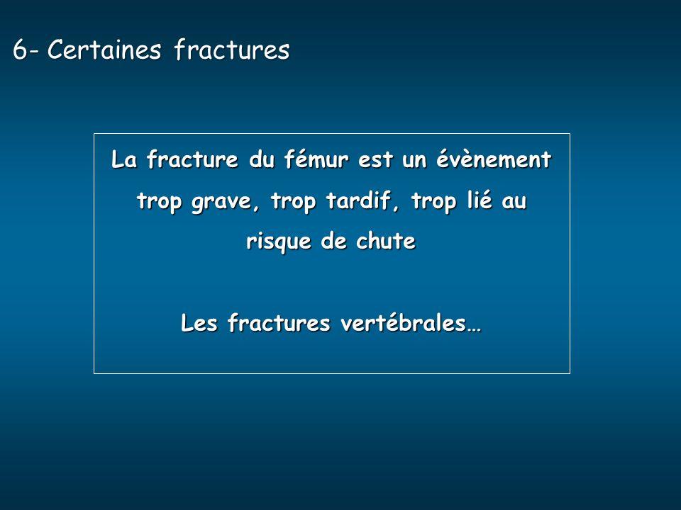 Les fractures vertébrales…