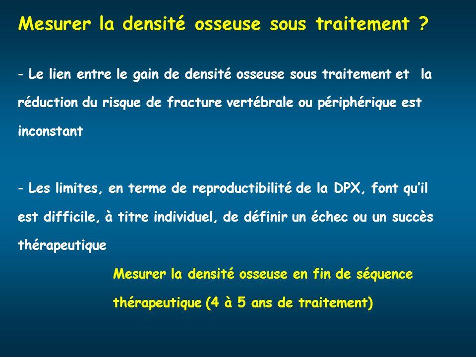Mesurer la densité osseuse sous traitement