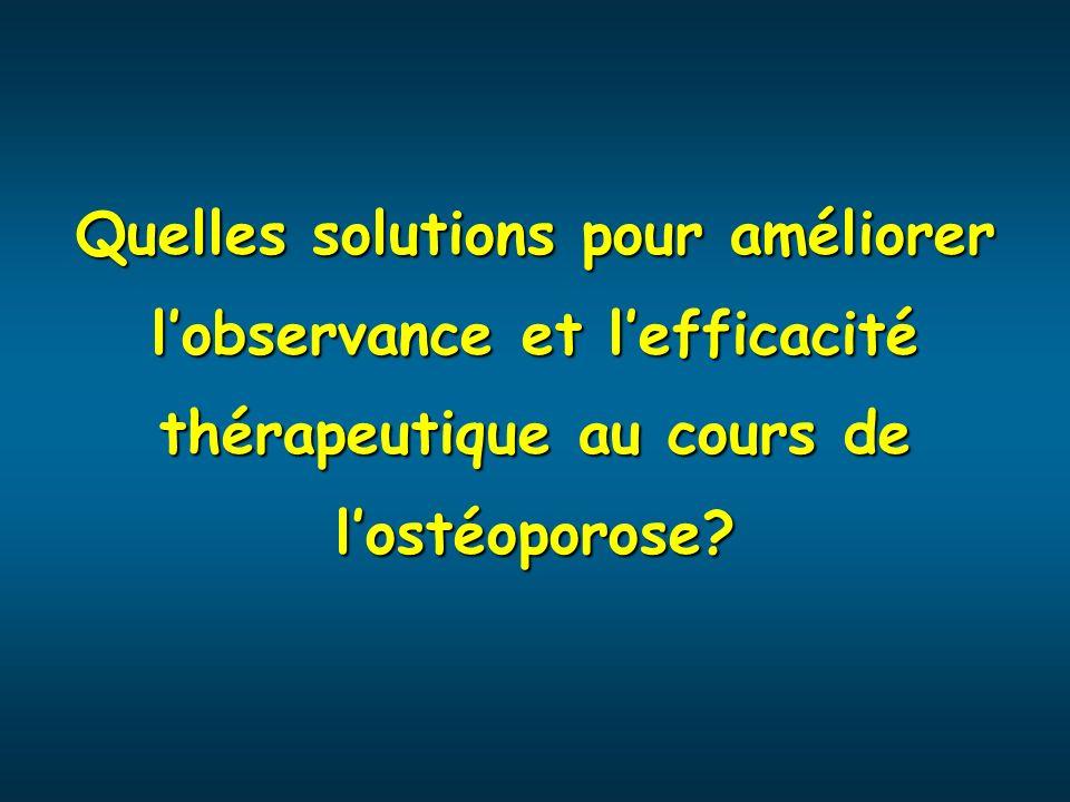 Quelles solutions pour améliorer l'observance et l'efficacité thérapeutique au cours de l'ostéoporose