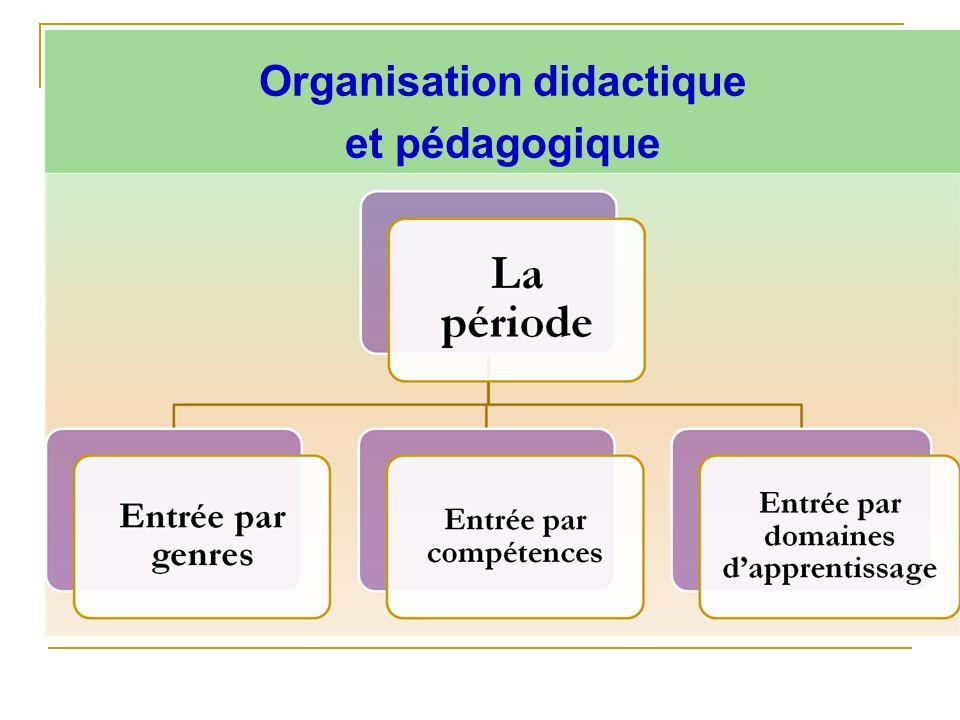 Organisation didactique