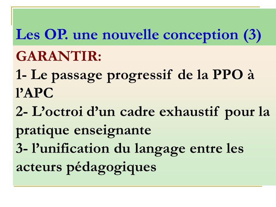 Les OP. une nouvelle conception (3)