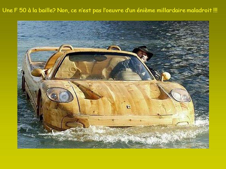 Une F 50 à la baille Non, ce n'est pas l'oeuvre d'un énième millardaire maladroit !!!