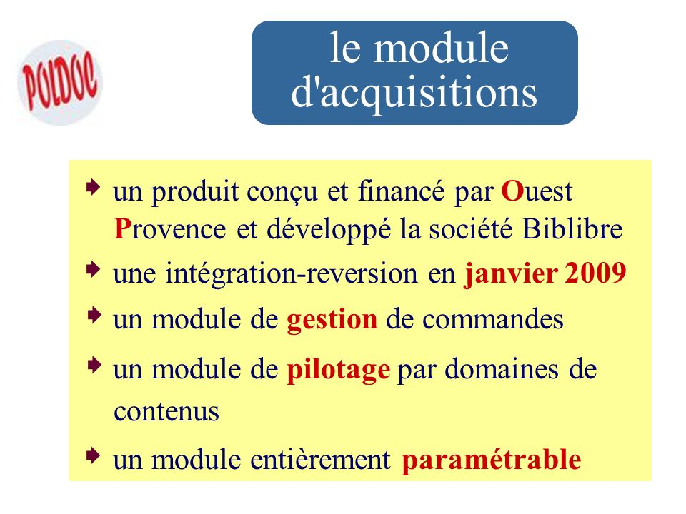 le module d acquisitions