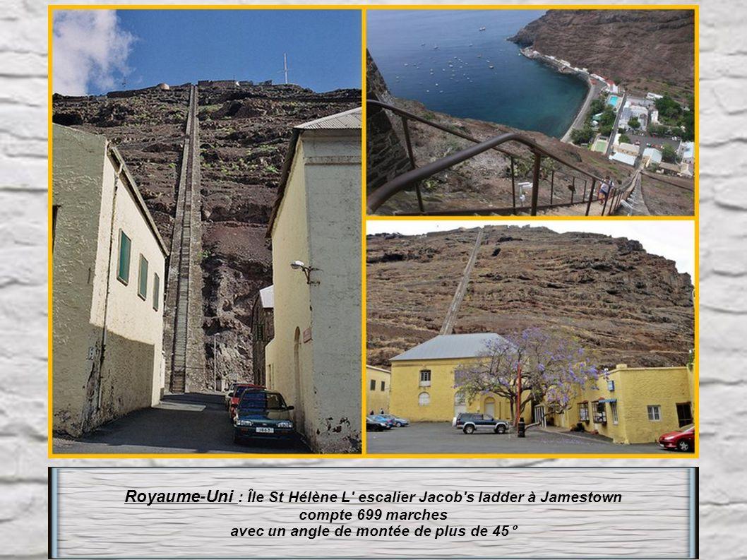Royaume-Uni : Île St Hélène L escalier Jacob s ladder à Jamestown