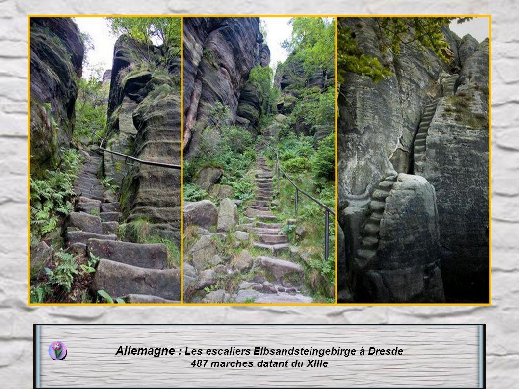 Allemagne : Les escaliers Elbsandsteingebirge à Dresde